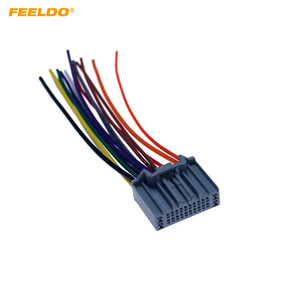 Wholesale FEELDO Car Stereo Audio Radio Wiring Harness Adapter For Honda CRV Greiz Gienia Envix CD Player Plug Cable