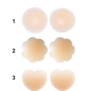 Wholesale Reusable Women Invisible Self Adhesive Silicone Breast Chest Nipple Cover Bra Pasties Pad Petal Mat Stickers Accessories