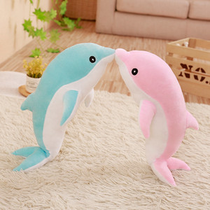 Wholesale 50 cm Kawaii Soft Dolphin Plush Toy big size Stuffed Cartoon Animal Nap Pillow Creative Kid girl cute Toy Christmas Gift