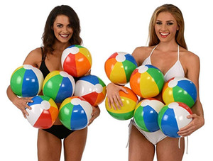 Wholesale Beach Ball quot Rainbow Beach Balls Inflatable Beach Ball Pool Toys Water Toysr Kids Shower Bath Toy Baby Outdoor Swimming Pool Water Toys