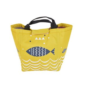Wholesale Cartoon Yellow Fish Tote Lunch Bag Waterproof Oxford Large Capacity Thermal Portable Picnic LunchBag