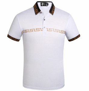 Wholesale Mens Designer POLO French classic design men s designer polos classic embroidery design cotton brand men s short sleeved shirt