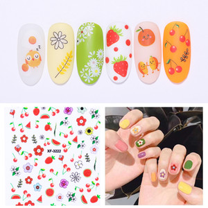 Wholesale 3D Nail Stickers Paper Self adhesive Nail Art Transfer Stickers Accessories Flower Nails Decorations for Design