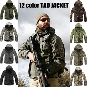 Army Camouflage Coat Tactical Jacket Clothing Outwear Soft Shell Waterproof Windproof Jacket Set