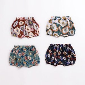 Wholesale bum shorts resale online - Cheap INS Baby girl clothing Bum shorts Feather Floral Ice cream cone girl Panties PP shorts Toddler Children clothes BY0825