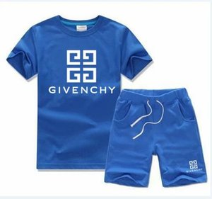Wholesale Baby Boys And Girls Designer T shirts And Shorts Suit Brand Tracksuits Kids Clothing Set Hot Sell Fashion Summer Children s T52468