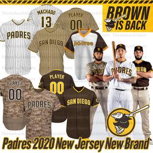 San Diego Fernando Tatis Jr Jersey Manny Machado 13 Tony Gwynn 19 Eric Hosmer Brown Is Back 2020 Season Jerseys