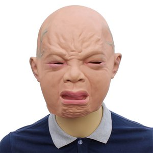 Wholesale Crying Baby Child Tear Mask Full Face Latex Mask Halloween Party Cosplay Adult Mask