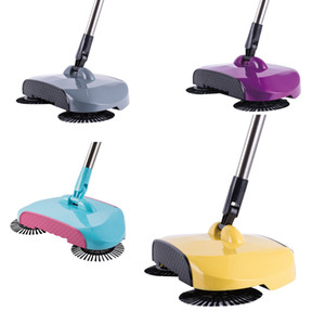 Wholesale New Stainless Steel Sweeping Machine Push Type Magic Broom Dustpan Handle Household Vacuum Cleaner Hand Push Floor Sweeper