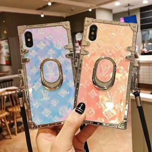 Wholesale 2019 new brand design printing presbyopic pattern bracket phone case for iphone XS max Xr X plus plus plus with lanyard