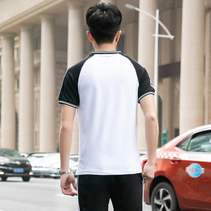 19 new sport Short-sleeved track suit men's clothing new fashion lovers female sports casual jogging suits buy the large size class service