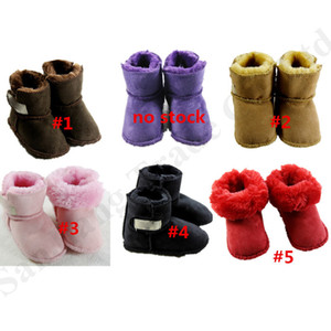 Wholesale Newborn Baby Boots Australia UG Infants Winter Shoes Soft Brand Boys Girls Suede Fur Boot Toddler Size Prewalker Shoe Plush Snow BootC112802