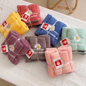 Wholesale pink baby bath sets for sale - Group buy Little Daisy Bath Towel Set Pieces Set Water Absorbent Good Towel Towel Combination