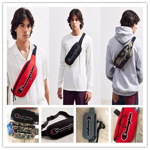Wholesale Champions Embroidery Letters Waist Bags Canvas Unisex Cross Body Chest Bag Adjustable Belt Messenger Bags Travel Sports Chest Pack B3141