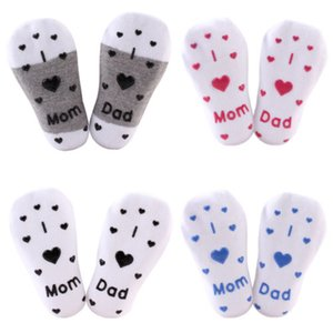 Wholesale Christmas Cute Baby Sock Boy Girl Cotton Socks NewBorn Infant Toddler Anti Slip Socks Y Hot New Kids Letter Non skid