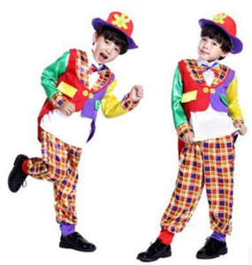 Wholesale Boys Magician Costume Magician Costume for Kids Funny Costumes Clown Cosplay Costume for Children Festival Clothing