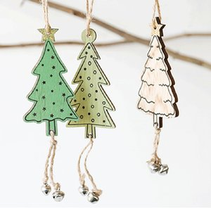 Wholesale Christmas Tree Pendant DIY Wooden Painted Hanging Ornament Xmas Party Decoration Household Family Home Accessories Dropshipping