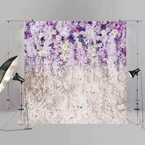 edding Flower Photography Purple floral wall photobooth background photo XT 6708(HUAYI) Wedding Backdrop Flower Photography Backdrop Pu...