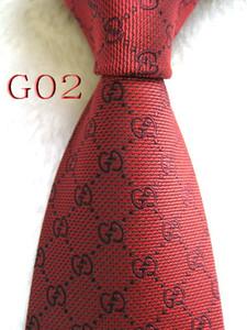 G02 #100%Silk Jacquard Woven Handmade Men's Red Color Tie Necktie(20 colors optional)