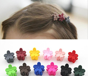 hair claw clamp clip 10 pcs New Fashion Baby Girls Small Claw Cute Candy Color flower Jaw Clip Children Hairpin Hair Accessories