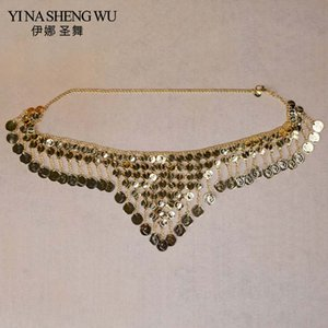 Wholesale Dancer s Coin Waist Belt Triangle Belly Dance Waist Chain Belt Ornament Oriental Dance Chain Metal Coin Belly