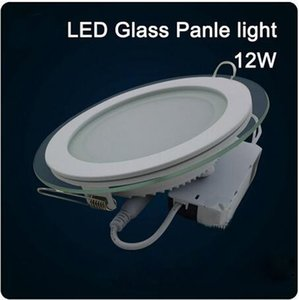 Wholesale 20pcs LED Glass Round Panel Recessed Wall Ceiling Downlight AC85 V W W W High Bright SMD5730 LED Indoor Light