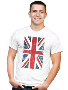 Wholesale Brand T Shirt Men Fashion Retreez Vintage Union Jack Uk Britain British Flag Graphic Printed T shirt Tee
