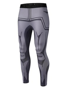 Wholesale New Mens Compression Pants D Anime Dragon Ball Z Naruto Bodybuilding Skinny Quick Drying Leggings Trousers