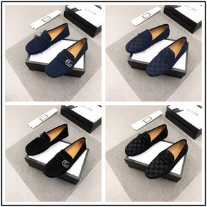 Wholesale 19ss Handmade Genuine Patent Leather And Nubuck Leather Patchwork With Bow Tie Men Wedding Black Dress Shoes Men s Banquet Loafers