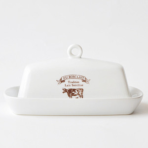 Wholesale European Butter Plate With Cover Cheese Dish Creative Animal Style Table Bread Dish Pastry Fuit Plate
