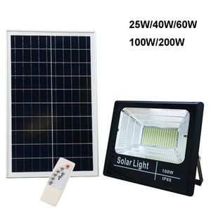 Wholesale led lights flood for sale - Group buy Solar Flood Light W W W W W Spotlight Yard Lamp IP66 White Auto LED Solar Lamp with Pannel Outdoor for Garden Street Garage Park