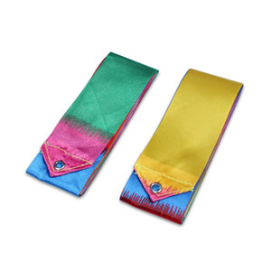 Wholesale 400CM Gym Dance Ribbon Art Gymnastics Ribbon Ballet Streamer Twirling Rod Stick Colorful