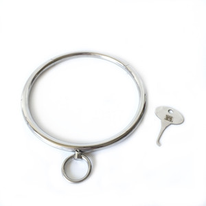 Wholesale New key stainless steel metal bdsm bondage collar slave restraint SM erotic couples adult game Sex toys for man woman