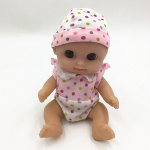 New Style 16cm Mini Doll Toy Imitation Baby Girl Toy Infant Baby Glue Doll Free Shipping L110