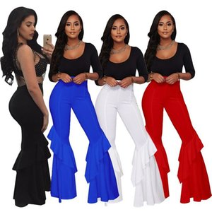 Elegant Boho Hippie High Waist Wide Leg Long Flared Bell Bottom Pants OL Casual Beach Pant Work Solid Trousers Female