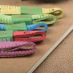 Wholesale Color with sheet metal flexible rule tape measure tailor ruler measuring ruler Plastic feet