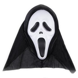 Wholesale screaming mask for sale - Group buy Horror Skull Masks Halloween Party Decor masks Screaming Skeleton Grimace Props Full Face For Men Women Masquerade Masks DHF279