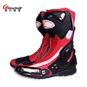 Wholesale PRO BIKER Microfiber Leather Motorcycle Boots Men SPEED Racing SUV Boots High Help Motocross Riding Motorboat B1002