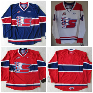 Men's Customize CHL WHL Spokane Chiefs 22 Tymow 17 Smyth Hockey Jerseys White Any Name Any Number Size S-4XL