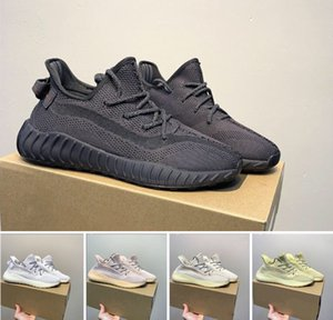 Wholesale 2019 Kanye West v3 designer shoes black static reflective blue light color luxury mens casual shoes Beluga womens sports shoes