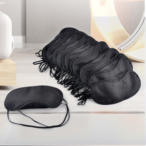 Black Eye Mask Polyester Sponge Shade Nap Cover Blindfold Mask for Sleeping Travel Soft Polyester Masks 4 Layer free DHL