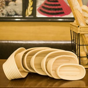 Bread proofing basket Indonesia rattan woven European fermentation bowl kitchen baking tool round dough mold oval weaving