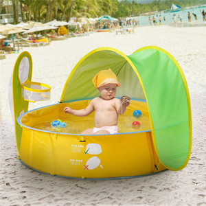 Wholesale Children Swimming Pool Foldable Mini Round Kids Swimming Pool with Sunshelter Baby Infant Outdoor Bathtub Portable Ball
