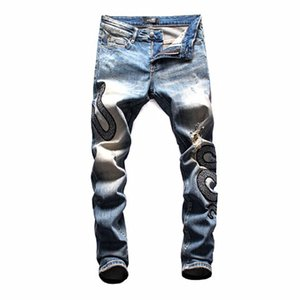 2019 NEW Italy Brand ds2 jeans mens designer jeans Men Denim black gg Jeans Embroidery Pants Holes gg Pants bt Size 44-54