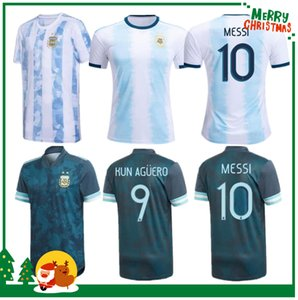 Wholesale argentina home kit resale online - 2020 Argentina home sports Jersey MESSI DYBALA DI MARIA AGUERO HIGUAIN soccer Football shirt Adult men kids kit
