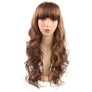 Wholesale Hot explosions WIG fashion girls face repair long curly hair wigs factory