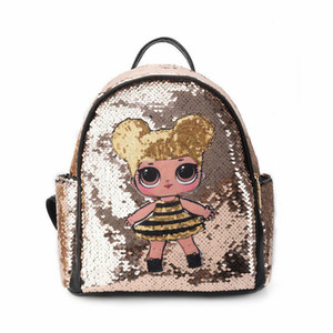 Wholesale Glitter Women Sequins Backpack Teenage Girls Travel Large Capacity Backpacks Bags Bling Rucksack Children School Bags Bagpacks J190523