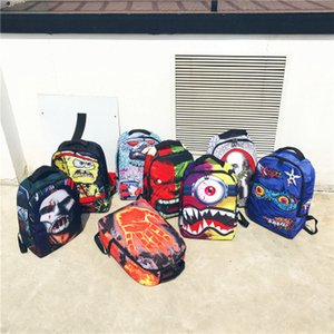 Cyclopia monster backpack Sprayground design daypack Shark mouth schoolbag Spray ground rucksack Sport school bag Outdoor day pack on Sale
