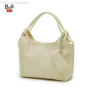 Wholesale women handbag shoulder bags hobos Weave casual bag female bolas tote beige black plaited bolsas femininas