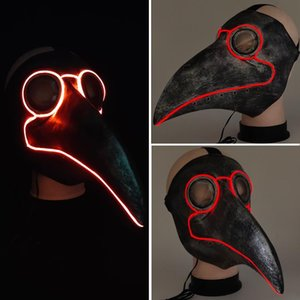 masque peste achat en gros de-news_sitemap_homeMascara drôle Led Masque Lumière La Peste Docteur Steampunk Oiseau Masque Party cosplay costume de Noël Nouvel An Halloween Mask